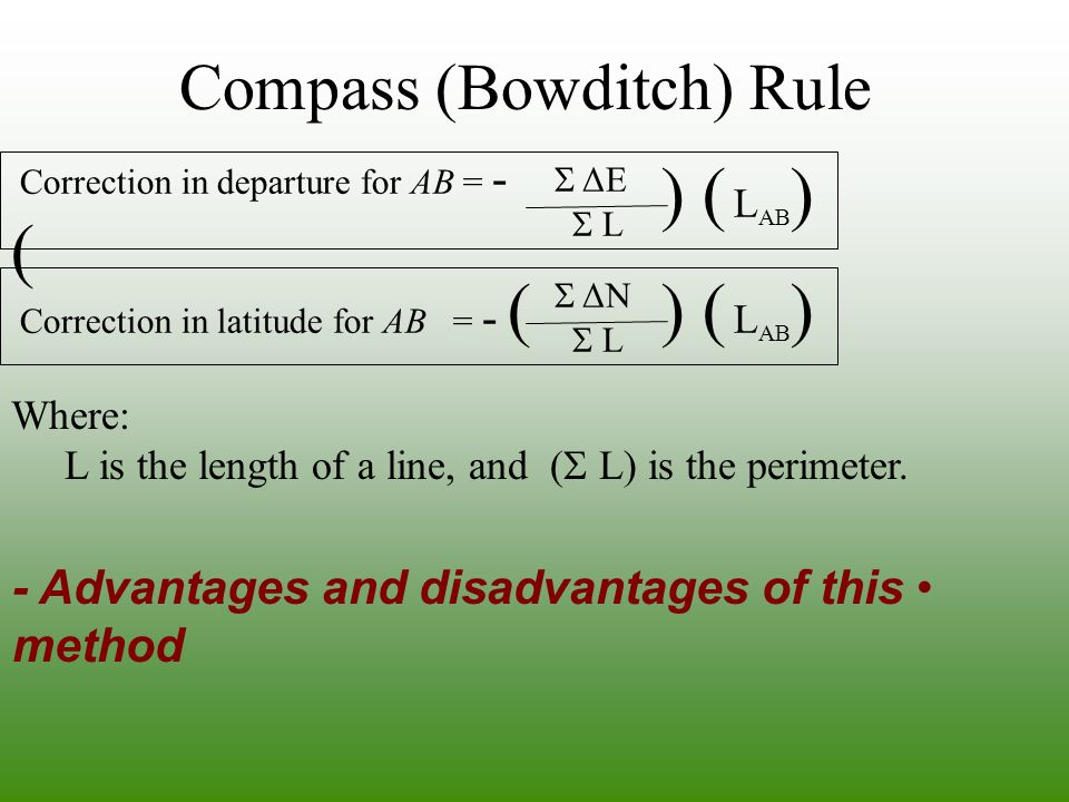 Compass (Bowditch) Rule