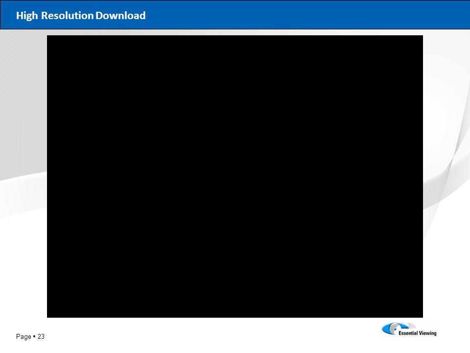 High Resolution Download