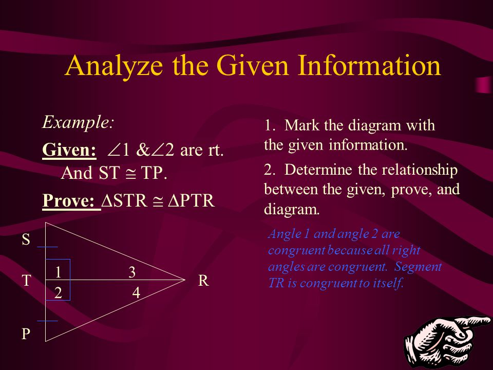 Analyze the Given Information