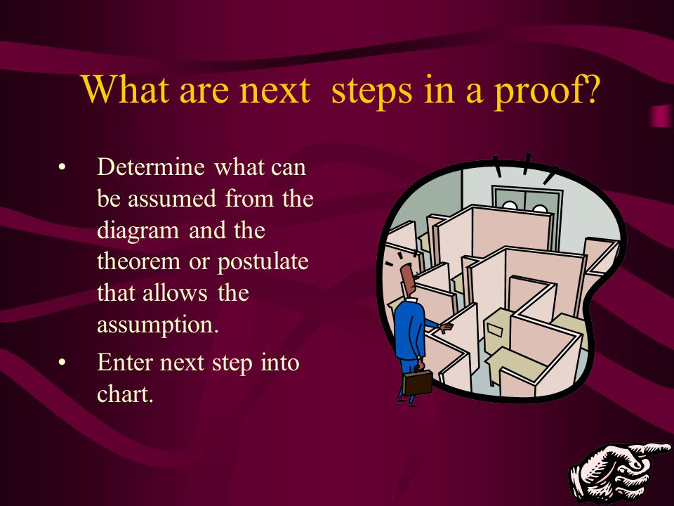 What are next steps in a proof
