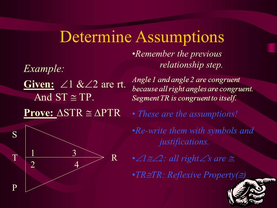 Determine Assumptions