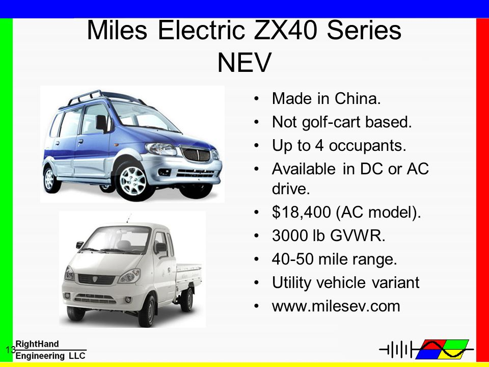 Miles Electric ZX40 Series NEV