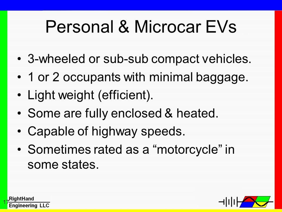 Personal & Microcar EVs
