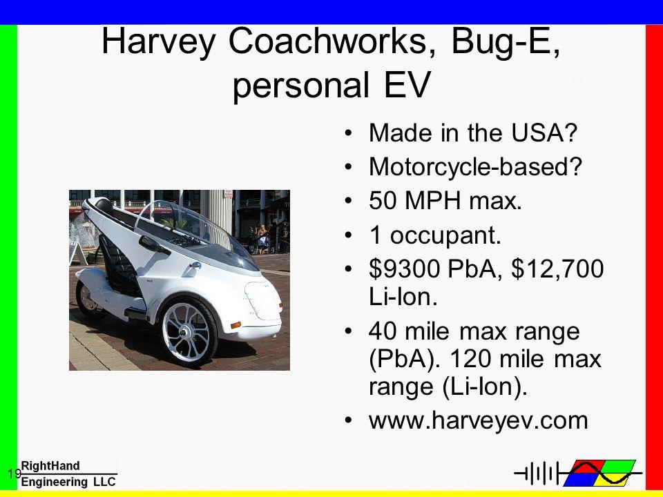 Harvey Coachworks, Bug-E, personal EV
