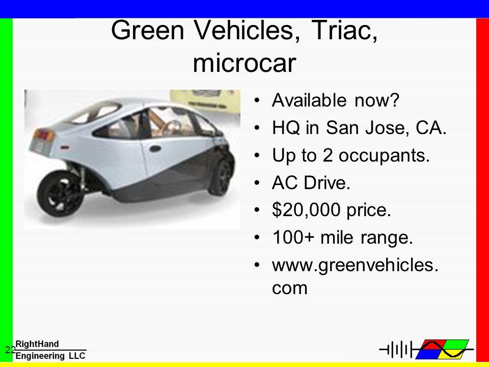 Green Vehicles, Triac, microcar