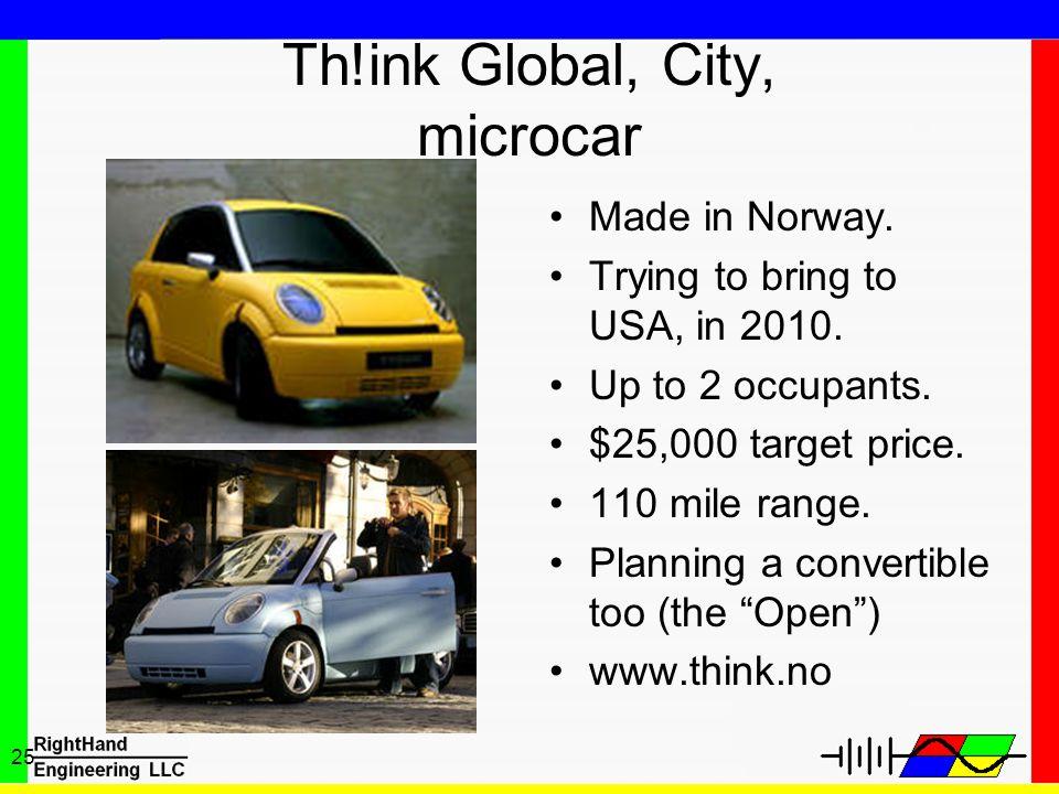 Th!ink Global, City, microcar