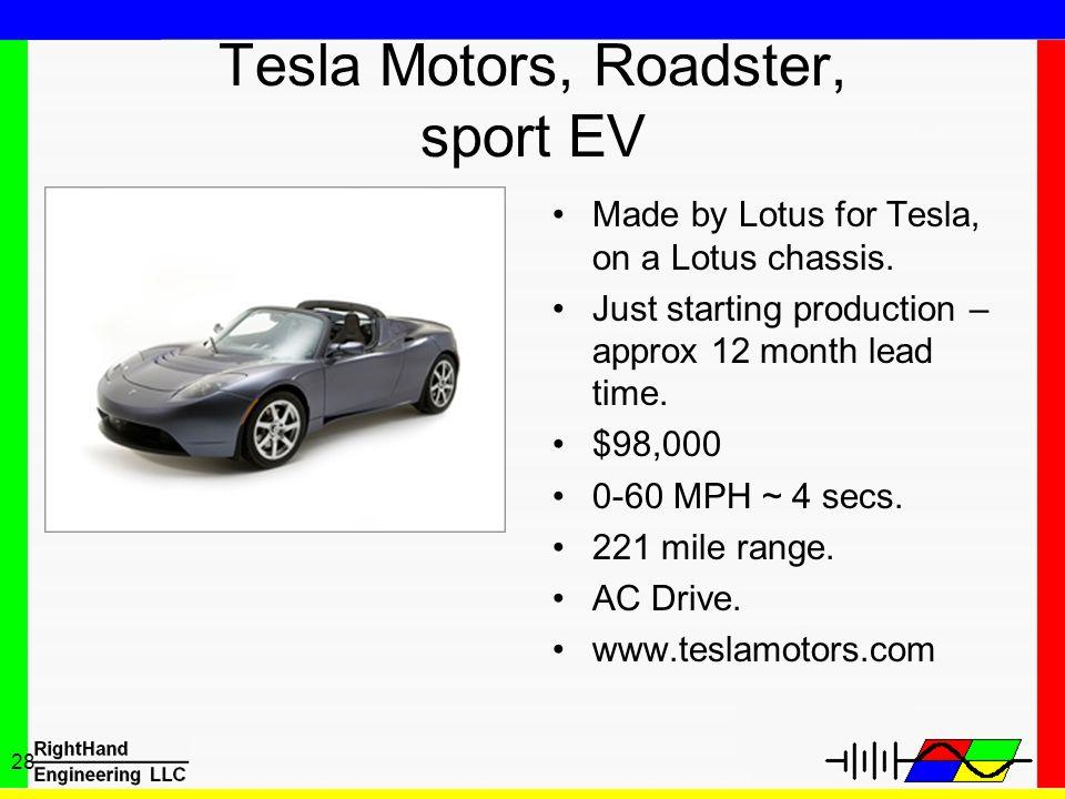 Tesla Motors, Roadster, sport EV