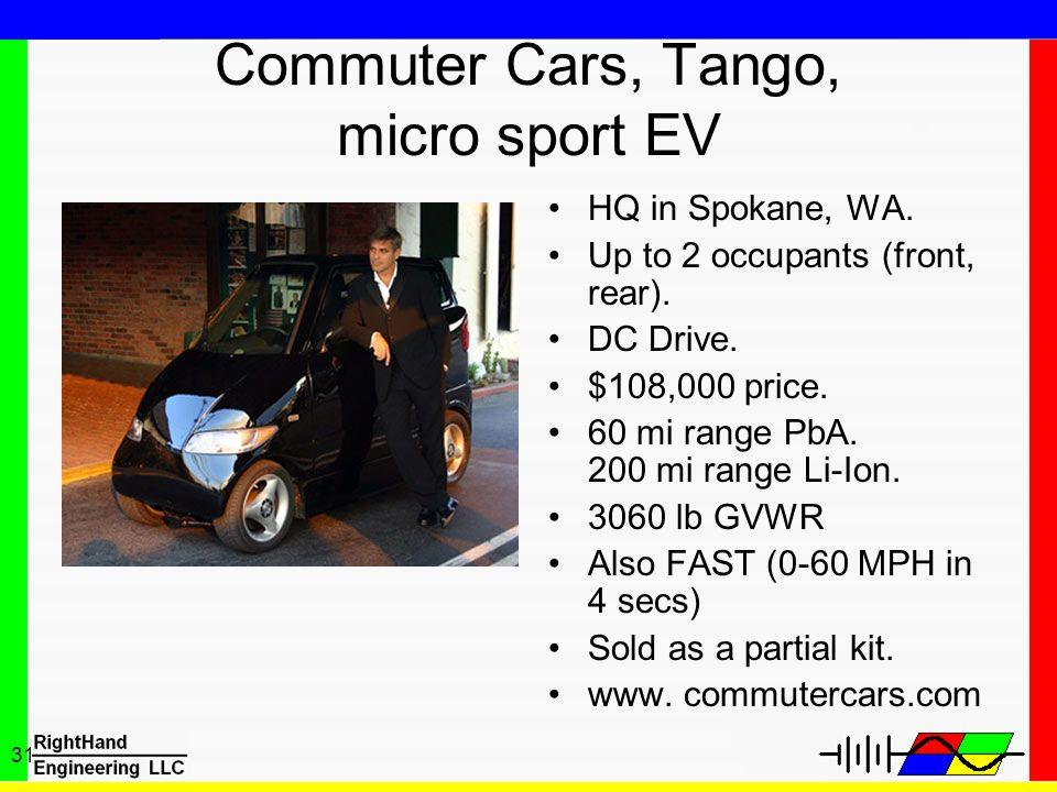Commuter Cars, Tango, micro sport EV