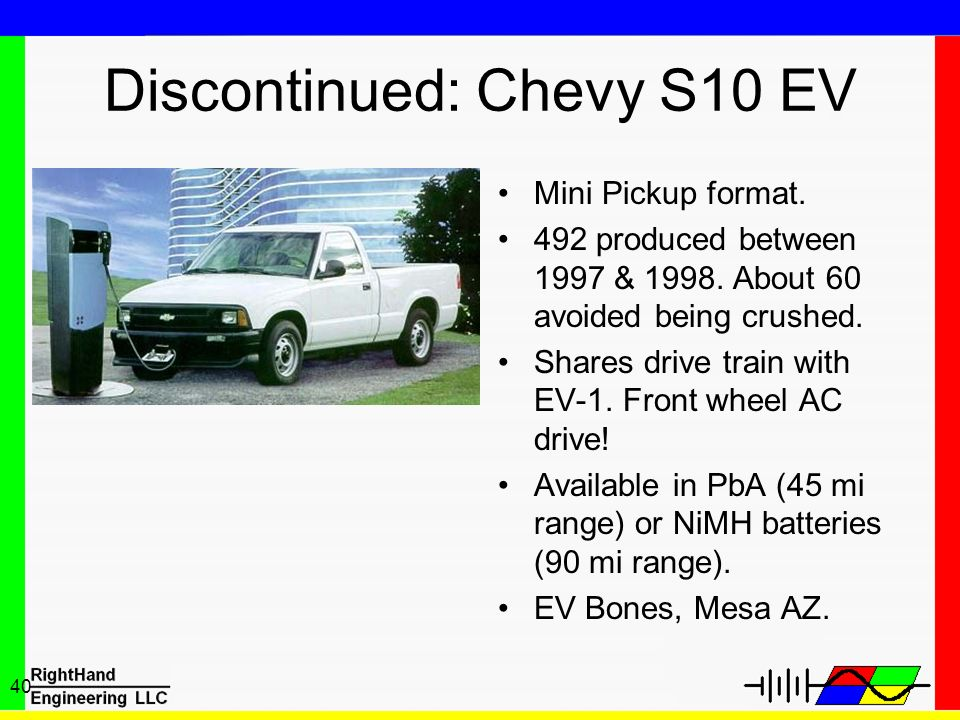 Discontinued: Chevy S10 EV