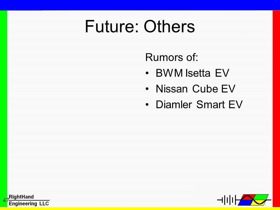 Future: Others Rumors of: BWM Isetta EV Nissan Cube EV