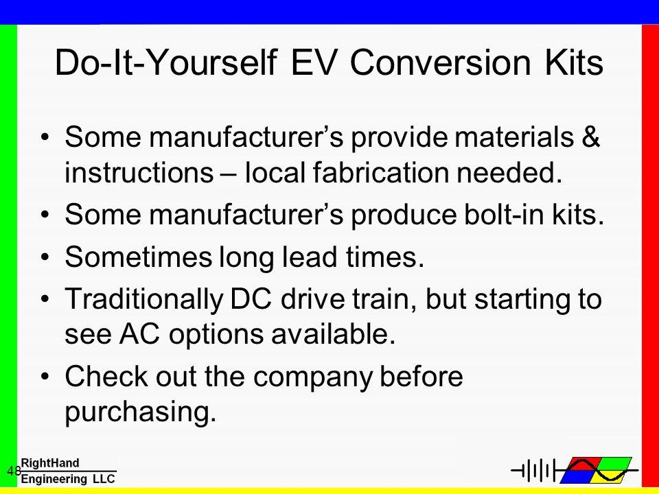 Do-It-Yourself EV Conversion Kits
