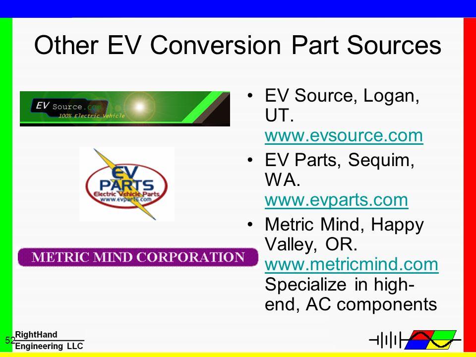 Other EV Conversion Part Sources