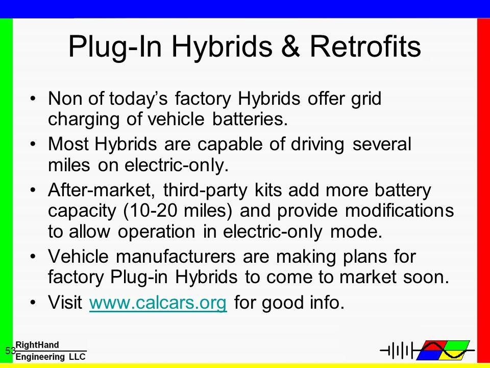 Plug-In Hybrids & Retrofits