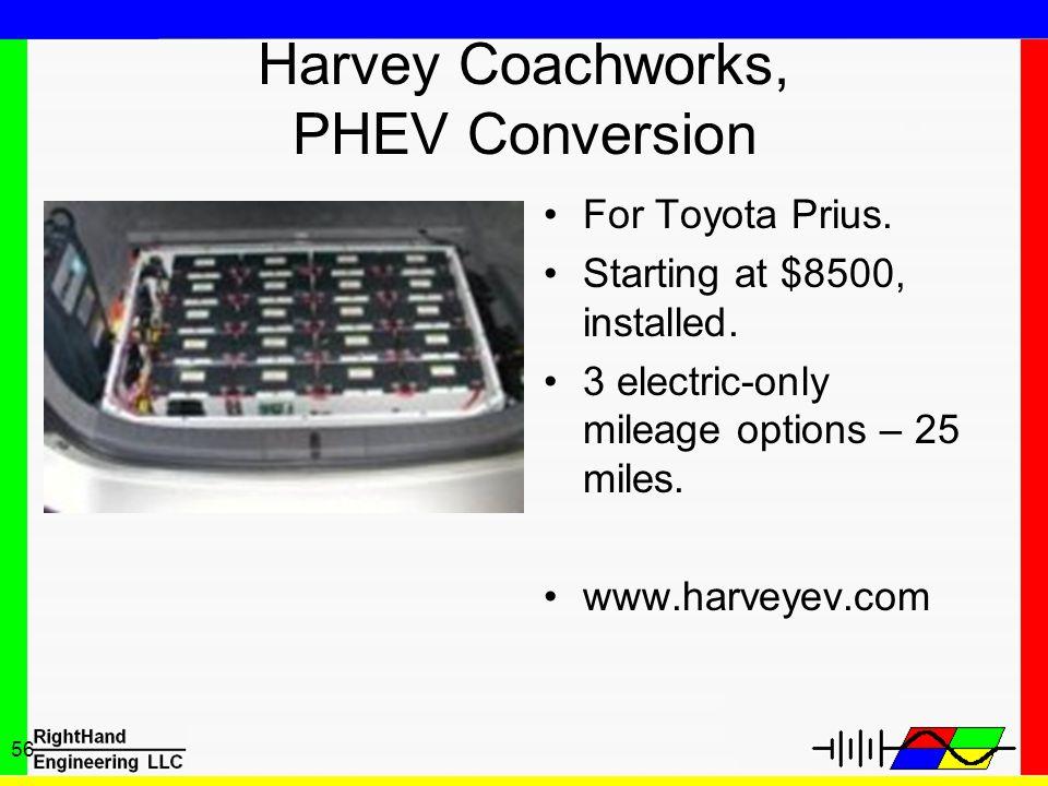 Harvey Coachworks, PHEV Conversion