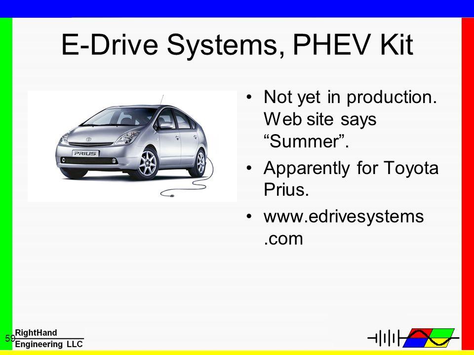 E-Drive Systems, PHEV Kit