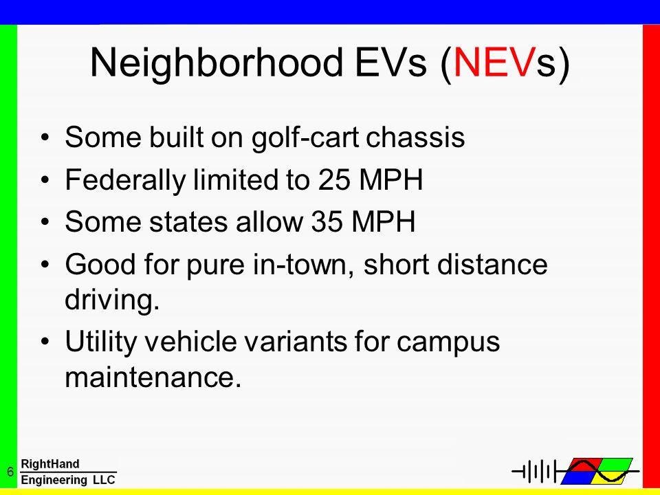 Neighborhood EVs (NEVs)