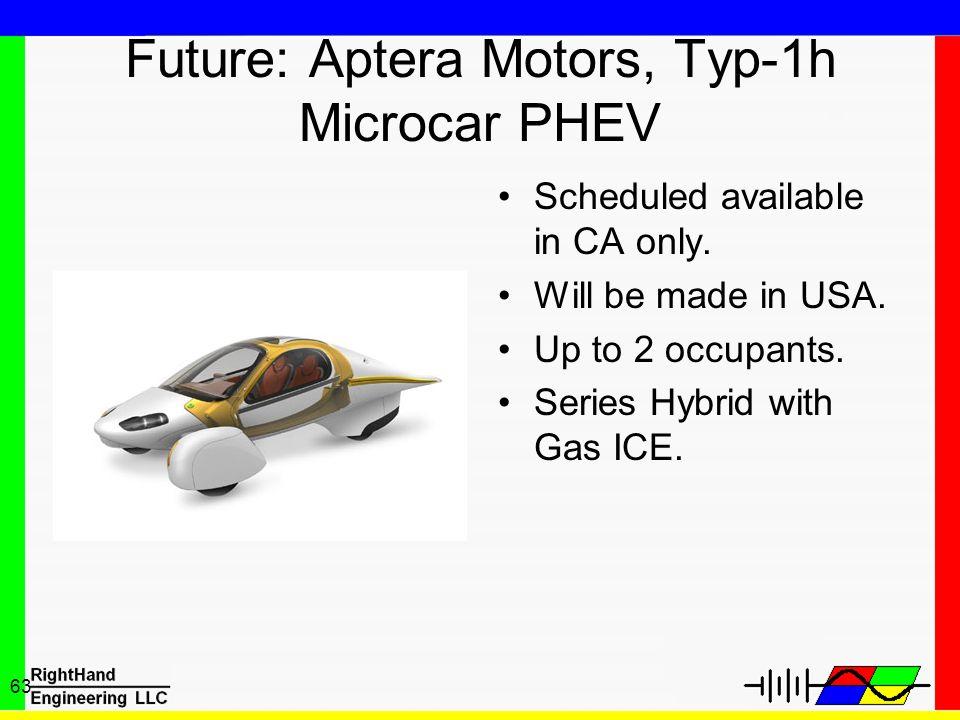 Future: Aptera Motors, Typ-1h Microcar PHEV