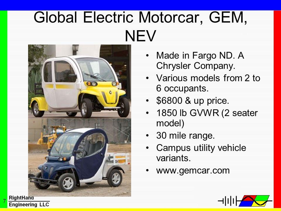 Global Electric Motorcar, GEM, NEV