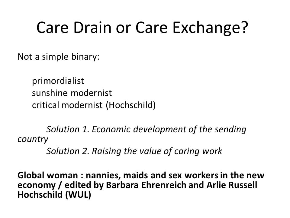 Care Drain or Care Exchange