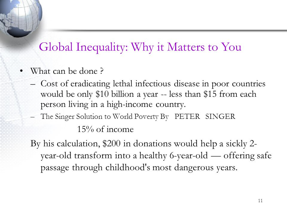 Global Inequality: Why it Matters to You