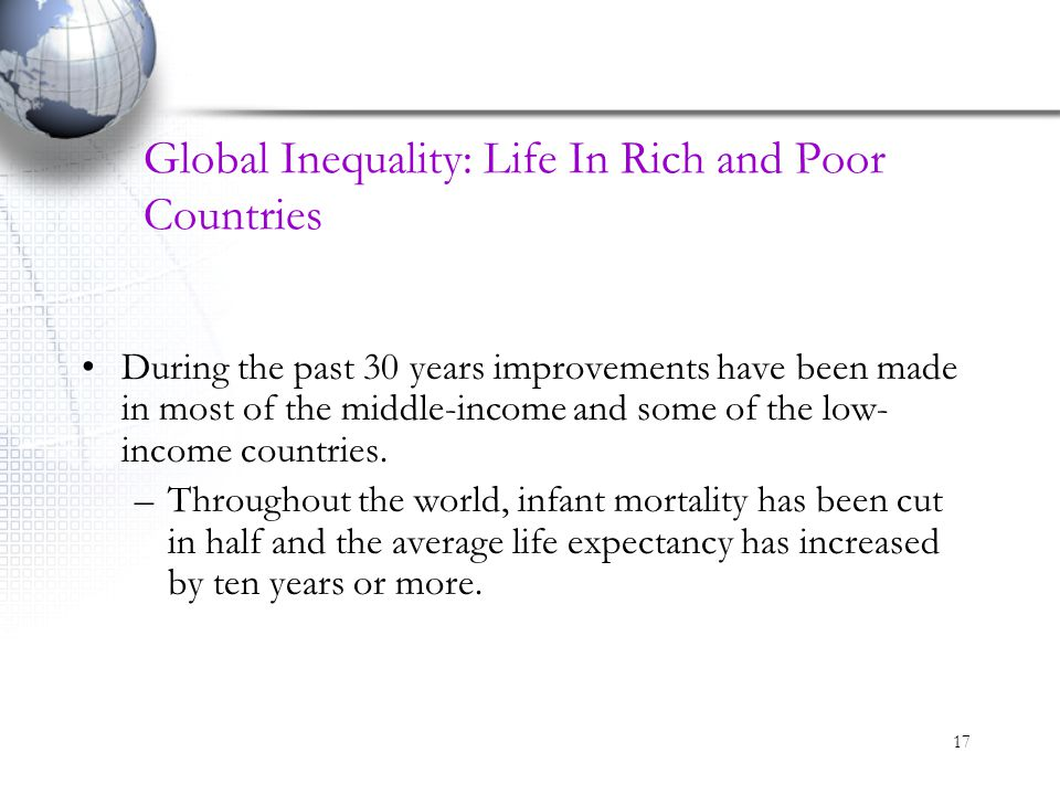 Global Inequality: Life In Rich and Poor Countries
