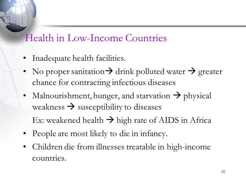 Health in Low-Income Countries