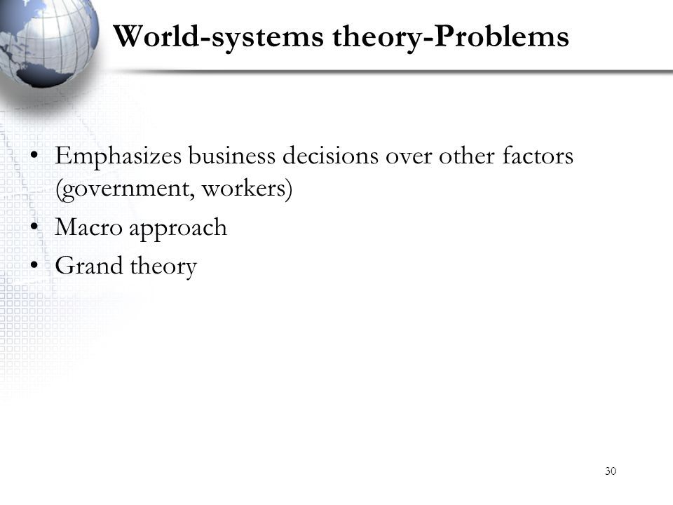 World-systems theory-Problems
