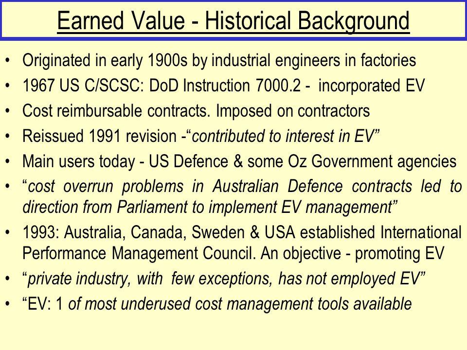 Earned Value - Historical Background