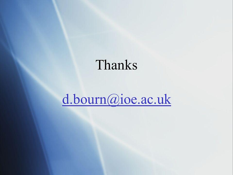 Thanks d.bourn@ioe.ac.uk