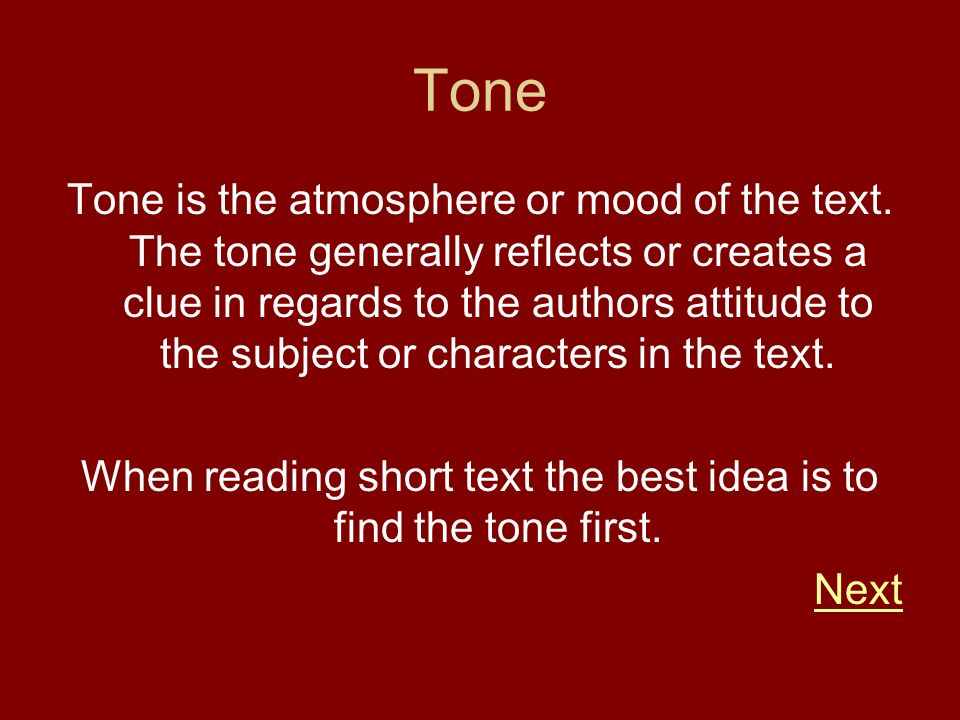 When reading short text the best idea is to find the tone first.