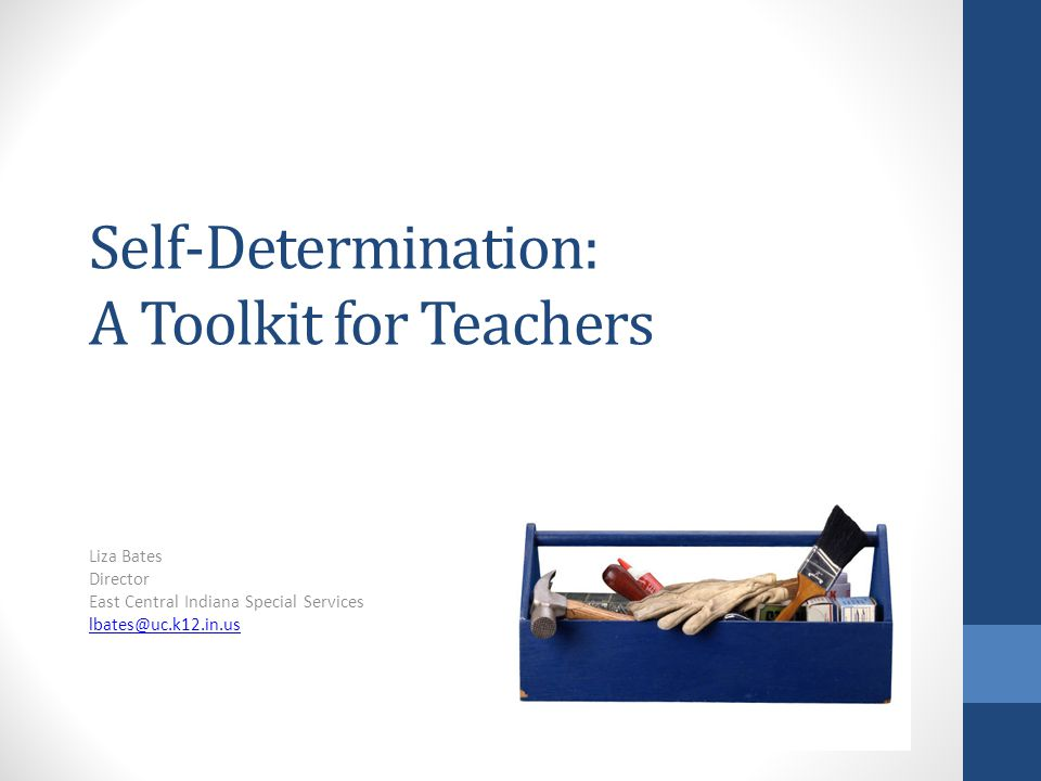 Self-Determination: A Toolkit for Teachers