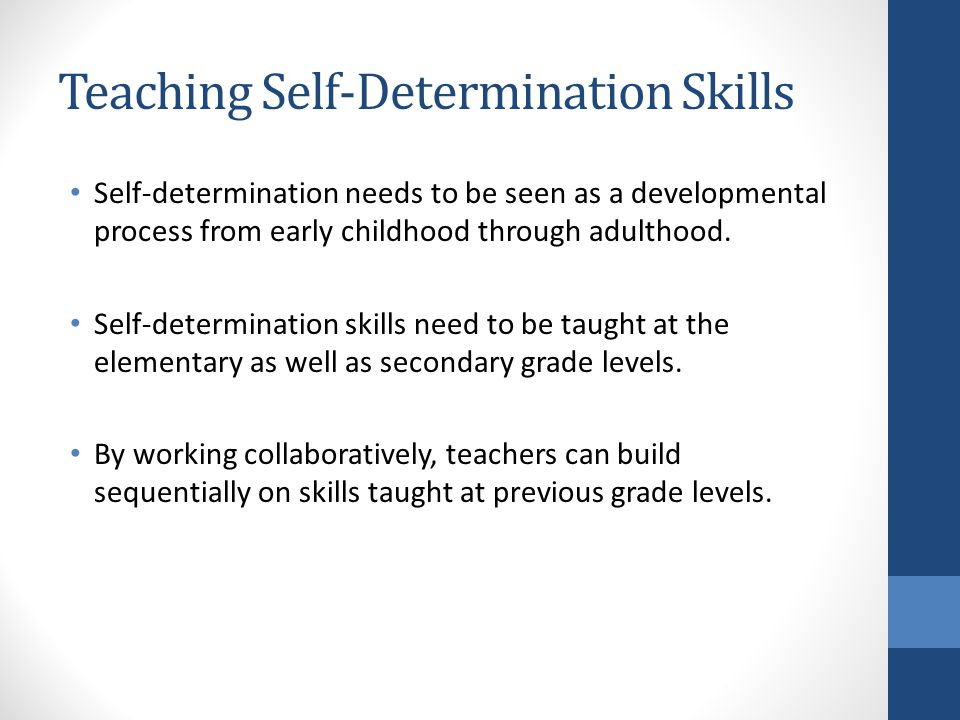 Teaching Self-Determination Skills