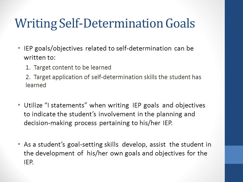 Writing Self-Determination Goals