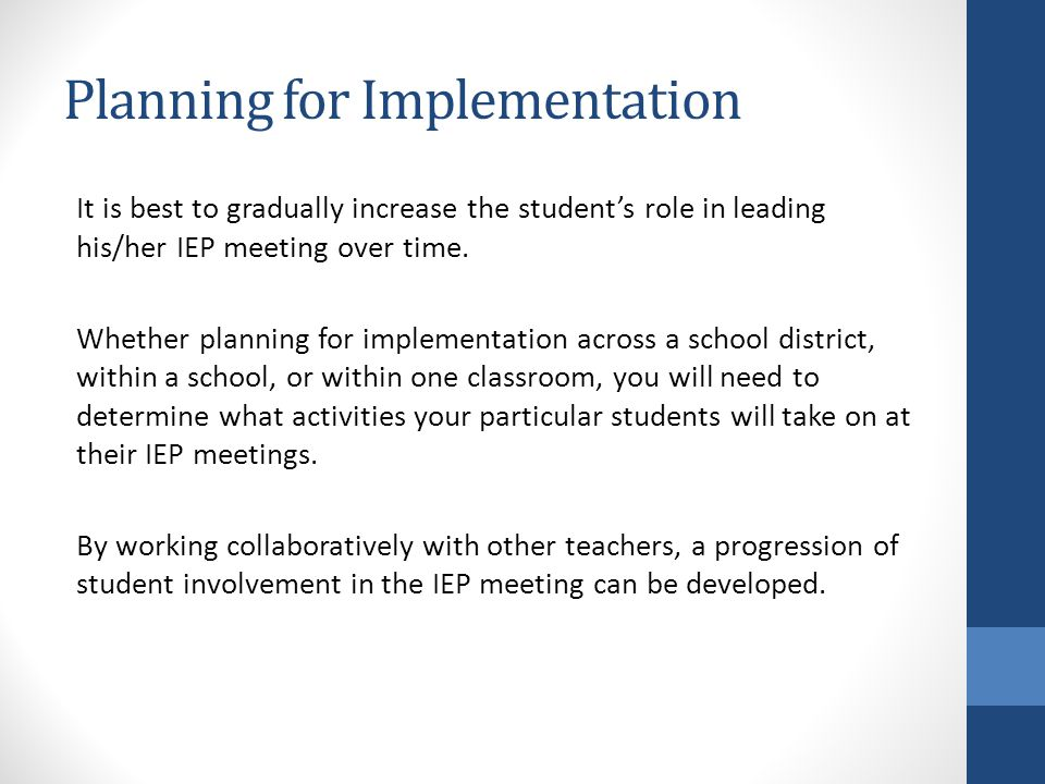 Planning for Implementation