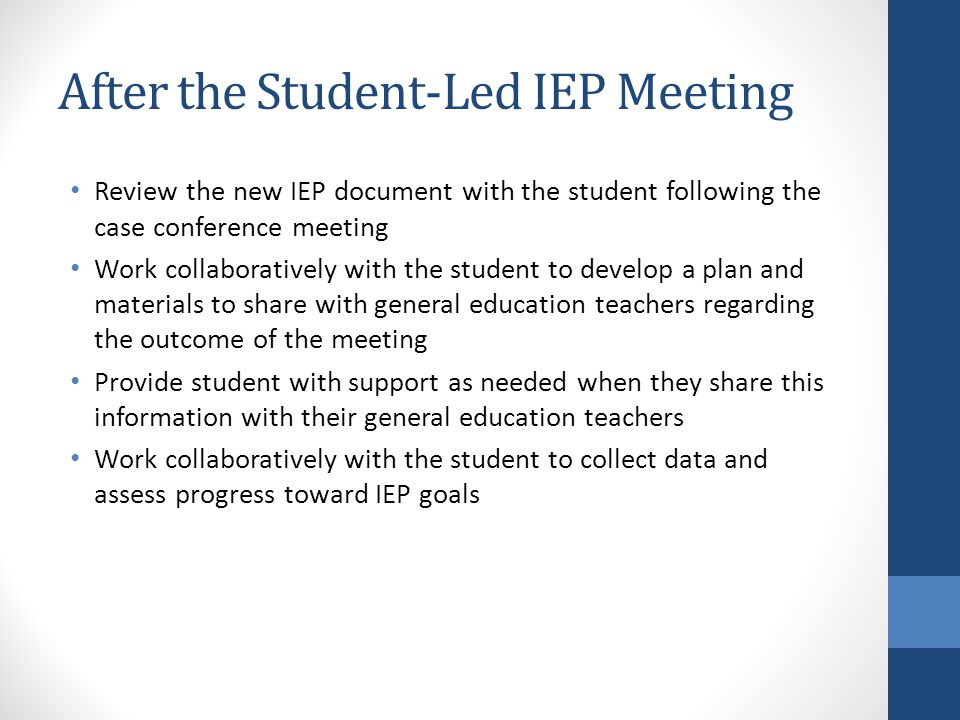 After the Student-Led IEP Meeting