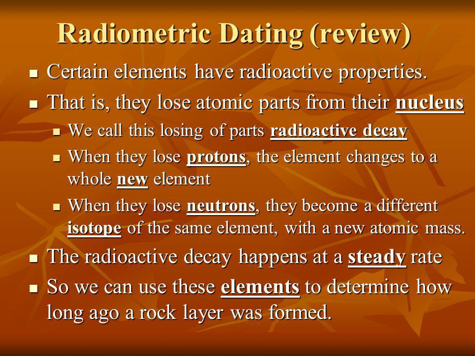 Radiometric Dating (review)