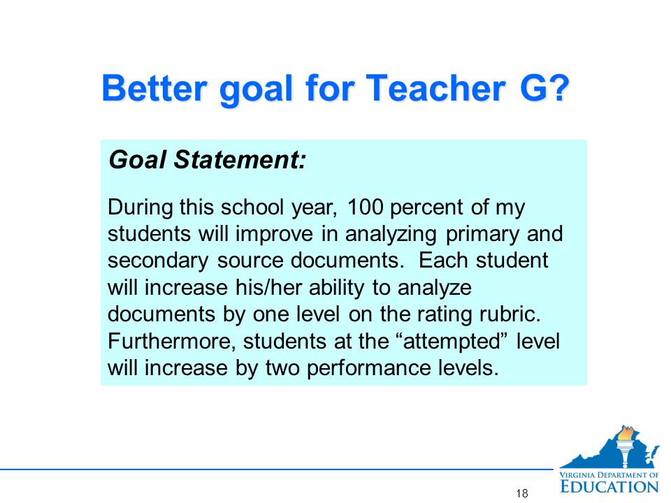 goal statement education