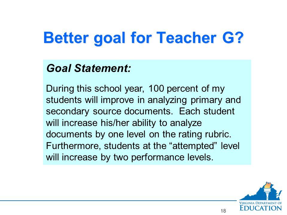 Teacher G: Assessing Rigor