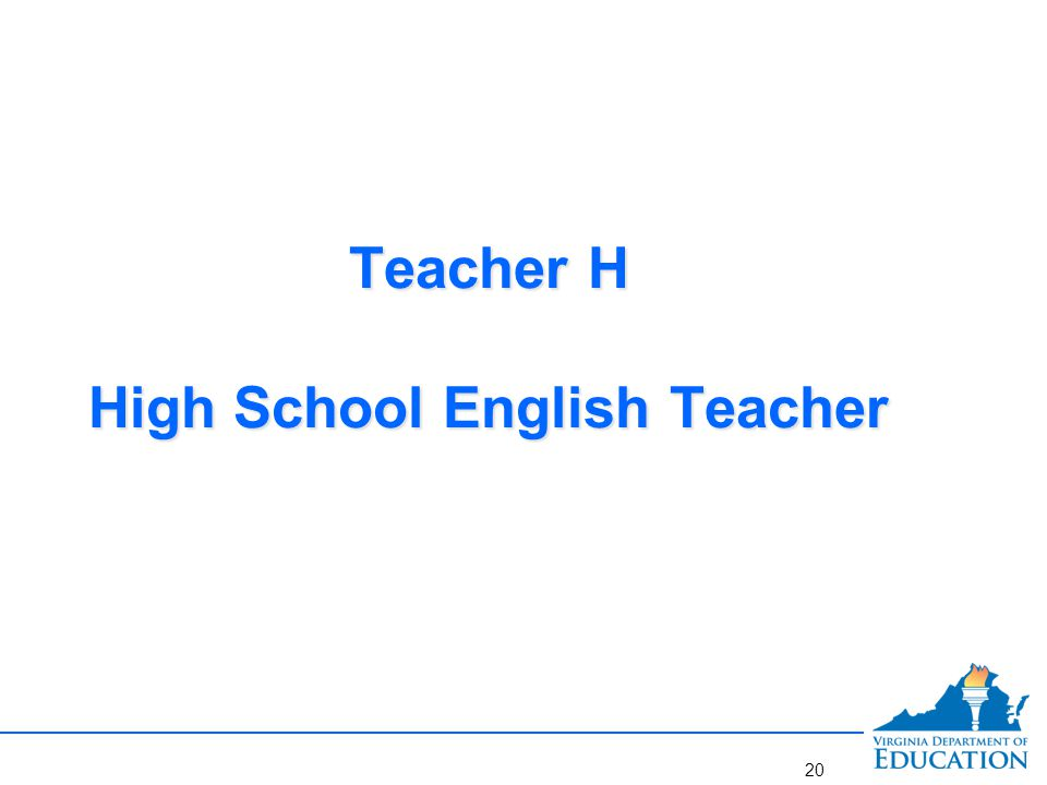 Professional's Name: Teacher H