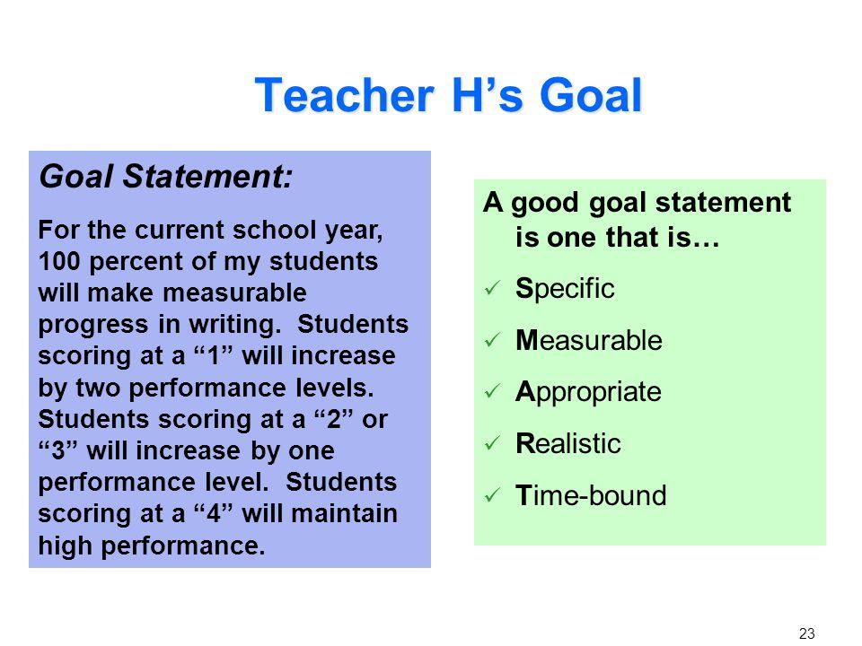 Applying a Goal Setting Rubric for Assessing Rigor