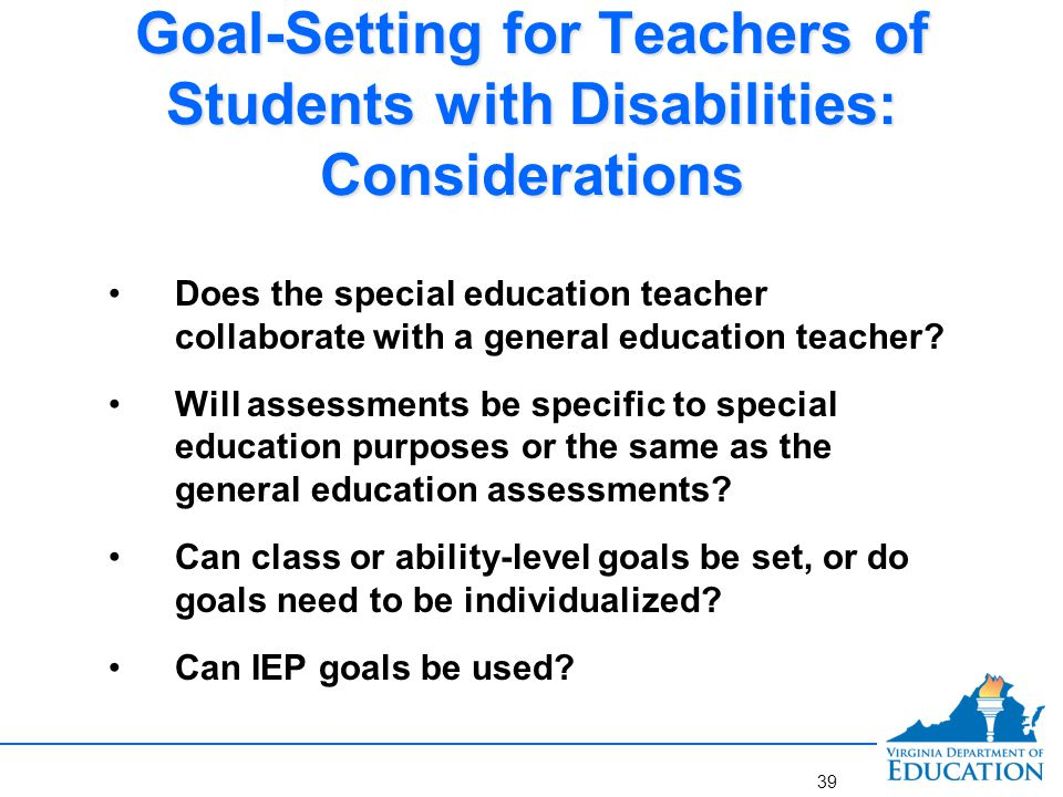 Example Goal for Teachers of Students with Disabilities in a Collaborative Setting