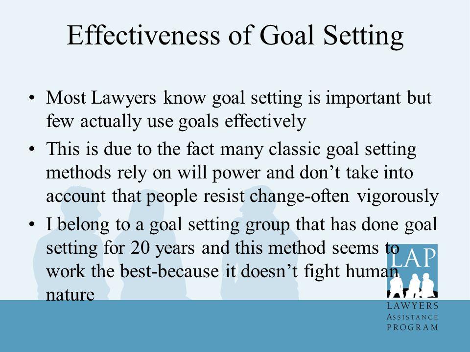 Effectiveness of Goal Setting