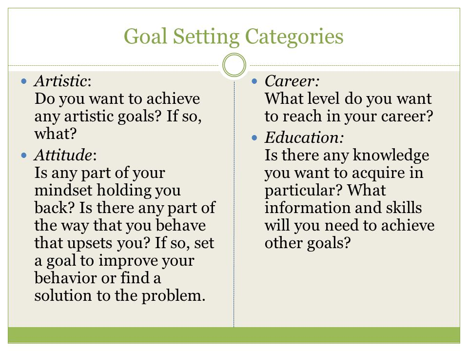 Goals i want to achieve essay
