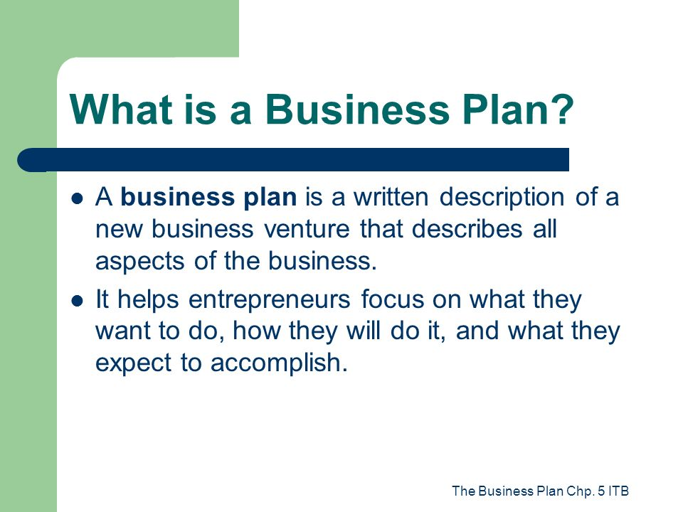 venture business plan
