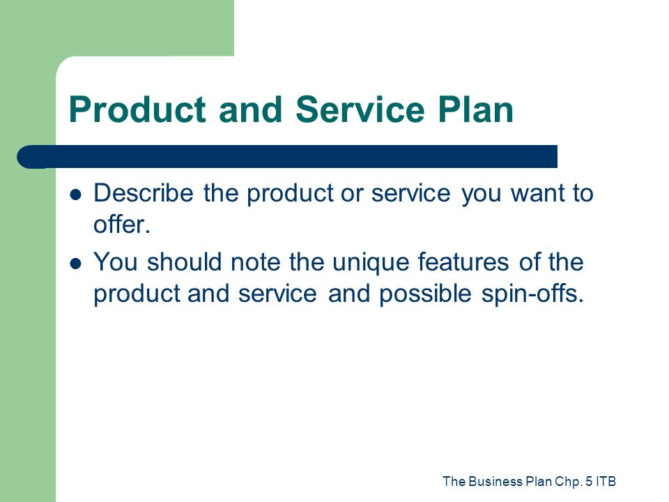 business plans products and services examples of adjectives