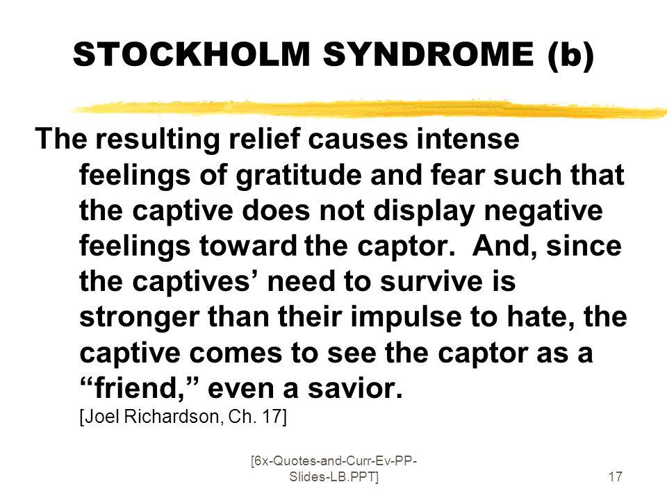 STOCKHOLM SYNDROME (b)