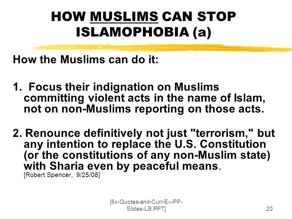HOW MUSLIMS CAN STOP ISLAMOPHOBIA (a)