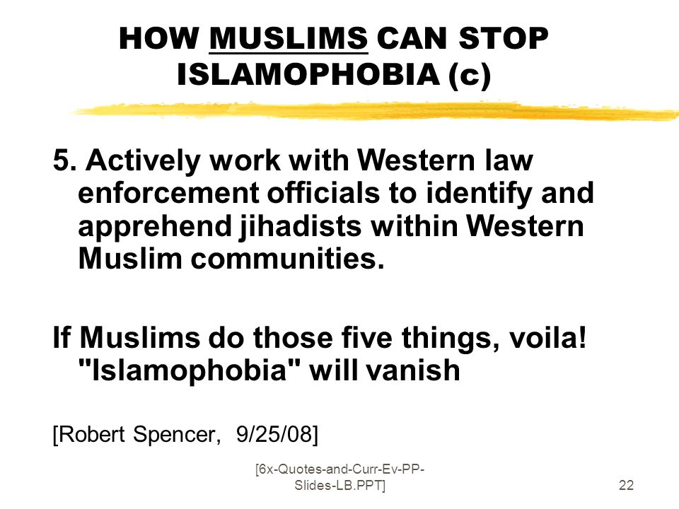 HOW MUSLIMS CAN STOP ISLAMOPHOBIA (c)