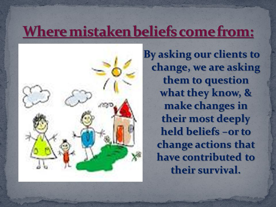 Where mistaken beliefs come from: