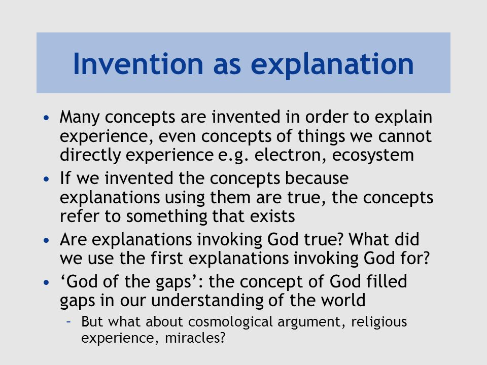 Invention as explanation